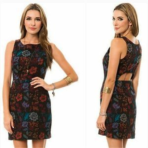 BB Dakota Thick Brocade Floral Shift Dress Tank 10